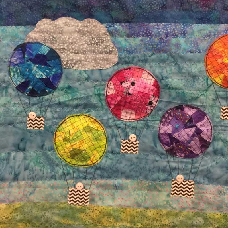 Jill's mini quilt using made fabric