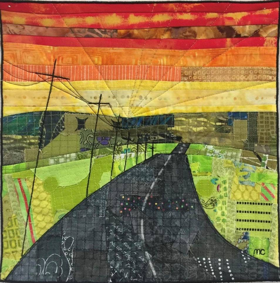 Marion's Journey quilt using made fabric